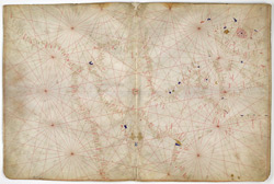 Nautical Chart Of Western Europe, Ca. 1400-1425